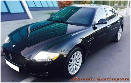 maserati Quattroporte - min. 3 hour of rent for wedding day