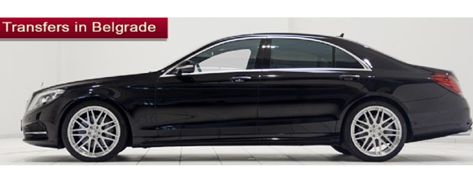 Daily hire Mercedes S class limousine in Belgrade with the driver