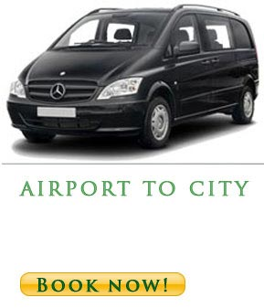 Mini van transfer from Belgrade airport to city center - Mercedes van -40€ one way